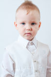 Little boy in a white shirt Royalty Free Stock Images