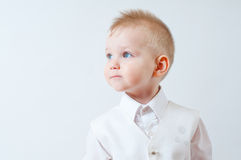 Little boy in a white shirt Stock Photography