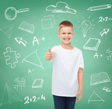 Little boy in white t-shirt Stock Photos