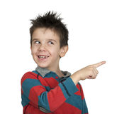 Little boy who points a finger Stock Photography
