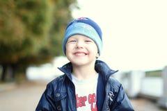 Little boy who smiles broadly Stock Photo