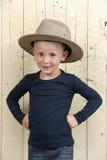 Little boy wiht cowboy hat Stock Photos