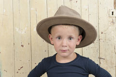 Little boy wiht cowboy hat Royalty Free Stock Photo