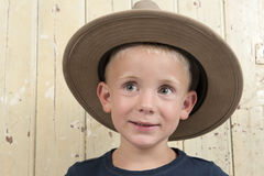 Little boy wiht cowboy hat Royalty Free Stock Photography