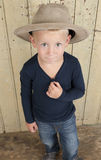 Little boy wiht cowboy hat Stock Image