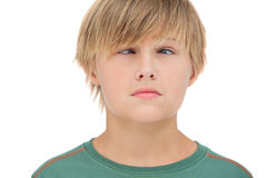 Little boy wincing Stock Photography