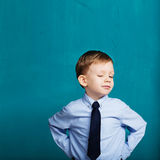 little boy winking and blinking Royalty Free Stock Photos