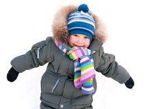 Little boy in winter Stock Photos