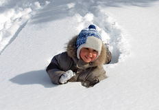 Little boy winter Royalty Free Stock Image