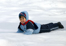 Little boy winter Royalty Free Stock Photo