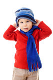 Little boy in winter clothes Royalty Free Stock Photo