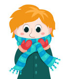 Little boy in winter clothes Royalty Free Stock Photos