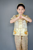 Little boy wishing you a happy chinese new year Stock Photography