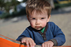 Little Boy With Sandy Mouth Royalty Free Stock Photography