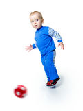 Little Boy With The Ball Stock Photography