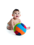 Little Boy With The Ball Stock Images