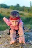 Little boy working out Stock Images