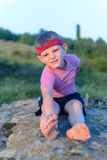 Little boy working out Stock Photography