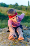 Little boy working out Royalty Free Stock Photo