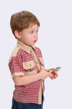 The little boy with a wrench Royalty Free Stock Image