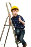 Little boy with wrench tool Stock Image