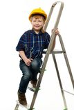 Little boy with wrench tool Stock Photos