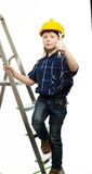 Little boy with wrench tool Royalty Free Stock Image