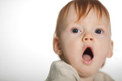 Little boy yawns Royalty Free Stock Image