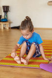 Little boy on a yoga class Royalty Free Stock Image
