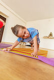 Little boy on a yoga class Royalty Free Stock Photo