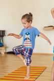 Little boy on a yoga class Royalty Free Stock Photography