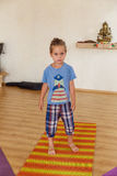 Little boy on a yoga class Royalty Free Stock Photos