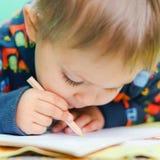 Little Boy-Zeichnen Lizenzfreie Stockfotos