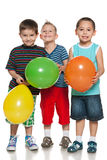Little boys with balloons Royalty Free Stock Image