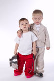 Little boys with a different fate. Two little boys with a different fate Stock Image