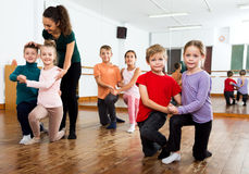 Little boys and girls having dancing Royalty Free Stock Photography