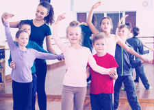 Little boys and girls having dancing Royalty Free Stock Photos