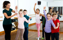 Little boys and girls having dancing Royalty Free Stock Images
