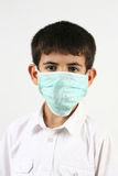 Little boys and a mask Stock Photography
