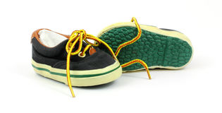 Little Boys Sneakers Great Soles Royalty Free Stock Image
