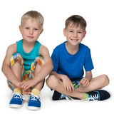 Little boys together Royalty Free Stock Photos