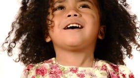 Little brazilian girl stock video footage