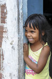 Little brazilian girl smiling Royalty Free Stock Photos