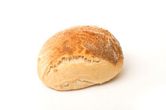 Little bread on white background Stock Photo