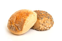 Little bread on white background Stock Photography