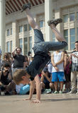 Little Breakdancer Royalty Free Stock Photos
