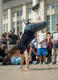 Little Breakdancer up side down Stock Image