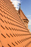 Little brick tower and a new roof Stock Images