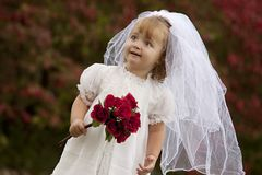 Little Bride Stock Image