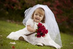 Little Bride Royalty Free Stock Photography